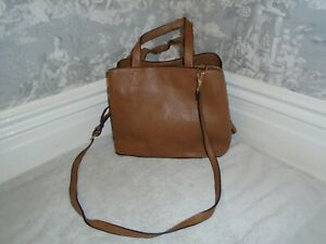 LOVELY BROWN FAUX LEATHER OASIS LADIES LARGE HANDBAG SHOPPER TOTE
