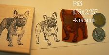 P63 French bulldog rubber stamp