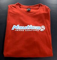 Nautica Jeans Vintage Red Spellout T-Shirt 90's 2000's Size XL
