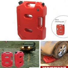 Portable 10l Car Motorcycle Off-road Bikes Jerry Can Spare Diesel Oil Fuel Tank