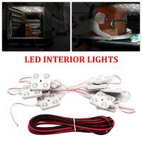 For LWB Transit Van VW Car Van Interior 40 LED Light Kit 12V White Lamp Bulbs UK
