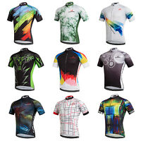 Men's Cycling Jerseys Tops Short Sleeve Cycle Bike Riding Shirt Jersey S-5XL