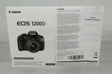 Canon EOS 1200D Official Basic Instruction Owners Manual Genuine DSLR English V4