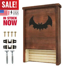 Bat House Nesting Boxes Natural Wood Shelter Waterproof Insulation W/Hardware Us