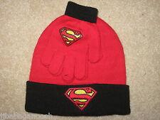 SUPERMAN vs Batman JUSTICE LEAGUE Movie Boys YOUTH NEW Beanie HAT Cap & GLOVES