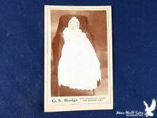 O.S. Hodge Des Moines Iowa CDV Portrait Baby Infant Gown Bows Lace Hidden Mama