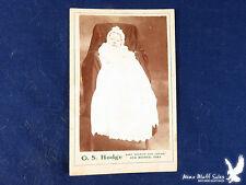 O.S. Hodge Des Moines Iowa CDV Portrait Baby Infant Gown Bows Lace Hidden Mama