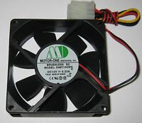 Motor One 80 mm Cooling Fan w/ 4 Pin Molex Male and Female Connectors - 12 V DC