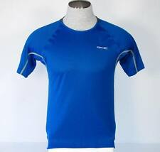 Reebok PlayDry Blue Premier Running Shirt Mens Medium M Nwt