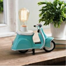 Turquoise Retro Scooter Night Light vintage accent to any table Great Gift