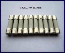 SPT Sicherung Ceramic T 6,3A 250V Träge 5x20mm Feinsicherung Fuse 10 Stück