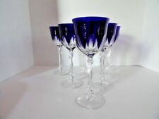 Faberge regency goblets in cobalt blue crystal