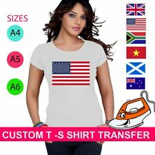 Australia Pakistan New Zealand Flags Iron On Heat Transfer T Shirt Brazil Top