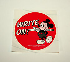 3 Vtg 1979 Mickey Mouse Write On Walt Disney Productions Teacher Sticker New NOS