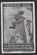 Poster/Cinderella Stamp: 1912 Unveiling of Palacky Monument, Prague  - dw731