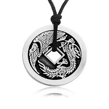 Dan's Jewelers Lucky Dragon Chinese Coin Pendant Necklace, Fine Pewter Jewelry