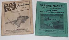 VINTAGE 1941 JOHN DEERE NOS. 11-A & 12-A COMBINES SERVICE MANUAL & DIRECTIONS!