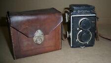 ROLLEIFLEX OLD CAMERA Original CARL ZEISS Tessar Germany With Cap Case Strap