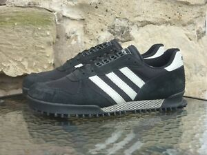 Vintage 1997 Adidas Originals Marathon TR UK11 / US11.5 Rare Black White OG