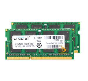 Crucial 16GB 2X 8GB Notebook Memory Upgrade PC3L-12800S SODIMM RAM DDR3L 1600Mhz