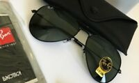100% genuine Ray-Ban Aviator mod RB3025 58mm clasic black with G15 lents