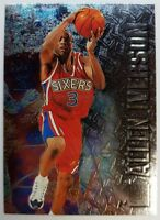 1996 96-97 Fleer Metal Allen Iverson ROOKIE RC #201, 76ers, The Answer, HOF!