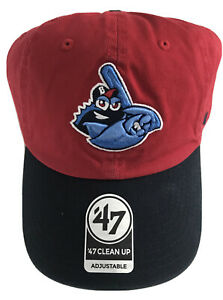 NWT MiLB Lakewood Blueclaws '47 Clean Up Strapback Adjustable Red & Blue Hat Cap