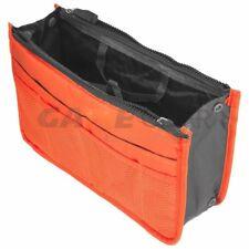 Orange Women Travel Insert Handbag Organiser Purse Large Liner Organizer Bag