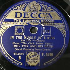 ROY FOX & HIS BAND – I WISHED ON THE MOON/IN THE MIDDLE OF A KISS 78RPM DECCA F5