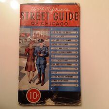 Vintage Street Guide of Chicago - 1945 - Rand McNally - Free shipping