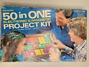 50 in One Electronic & Magnetic Project Kit  28-227 Science Fair Radio Shack