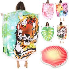 Beach Towel Large Round Yoga Mat Picnic Blanket Bath Towel Fringes  Beach Mat