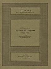 Sotheby's British Paintings 1700-1950 London Auction Catalog 1982