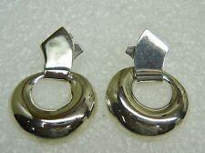 Mexico Sterling Silver Dangle Hoop Pierced Earrings N419-R