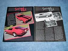 "1972 Z/28 Camaro Street Machine Vintage Article ""Seeing Red"""