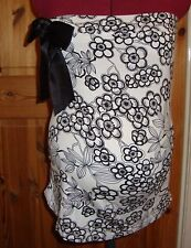 BNWT MATERNITY Black/White Bow Detail Sleeveless Top/Boob Tube Size Medium