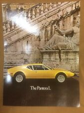 1971-1974 DeTomaso Pantera original NOS tri-color dealer showroom sales brochure