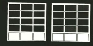 1:24 G SCALE PLASTIC WHITE OVERHEAD SERVICE BAY DOORS GAS STATION DIORAMA