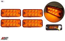 4 piezas 12v 8 LEDS PARTE DELANTERA TRASERO Ámbar Naranja Luces de marcaje