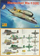 Henschel Hs-132 C , RS- Models, 1:72, Deutsche Luftwaffe, Neu