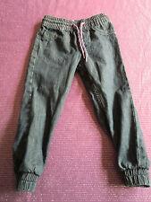 H & M, pantalons pull-on, denim loose, taille 92, Bleu foncé, coton