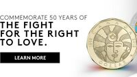 2019 $1 CANADIAN EQUALITY COIN - 50th Anniversary of Gay Rights in Canada - BU