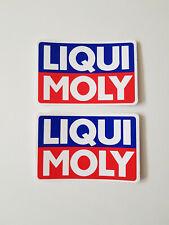 2x LIQUI MOLY Aufkleber Sticker Logo Öl Racing Tuning Motorsport Kult Decal