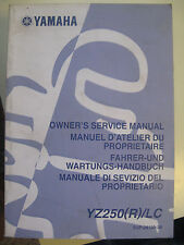 2003 Yamaha YZ250 R LC : Factory Service Manual