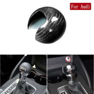 Rear Carbon Fiber Interior Gear Shift Knob Cover Trim for Audi A3 S3 2012-2018