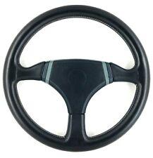 Genuine Momo Cobra 2 360mm black leather steering wheel. 1988.   SUPERB!    18B
