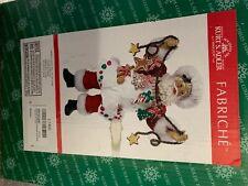 Kurt Adler Santa Claus Chef w Garland Fabriche Christmas Figurine Home Chef Gift
