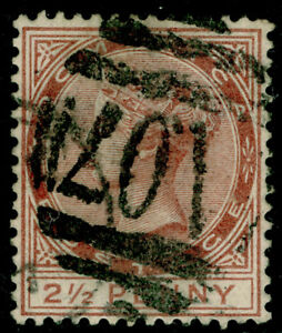 DOMINICA SG6, 2½d pale red-brown, USED. Cat £40.