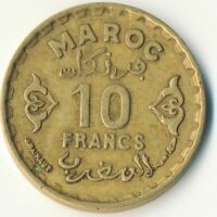 COIN / FRENCH MOROCCO / 10 FRANC 1951      #WT7699