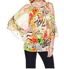 Women's Summer Cruise Cocktail Day evening party mesh Blouse top tunic plus1X 2X
